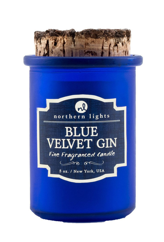 Blue Velvet Gin Spirit Jar Candle