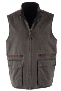 Madison Creek Vintage Reversible Sherpa Fleece Vest - Front