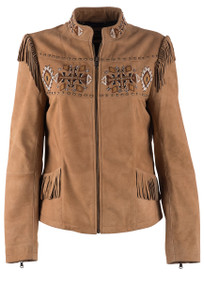 Scully Beading and Fringe Jacket - Front
