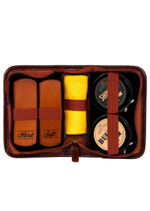Gentleman's Hardware Navy Shoe Shine Kit
