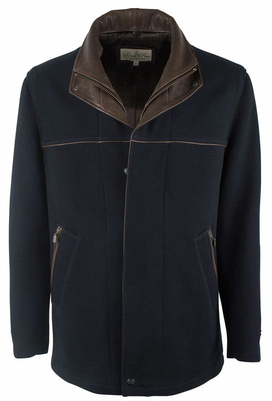 Lone Pine Navy Cashmere Blend Jacket - Front