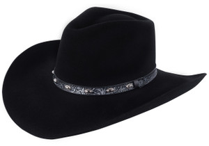 Stetson 3X Black Buckshot Hat - Side