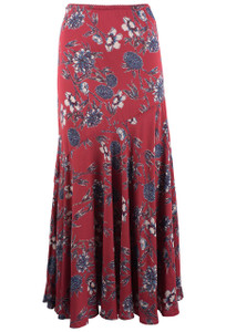 Lola P Red Floral Skirt - Front