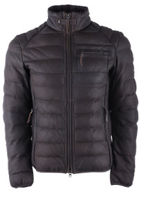 Stetson Dark Brown Lamb Puffy Jacket - Front