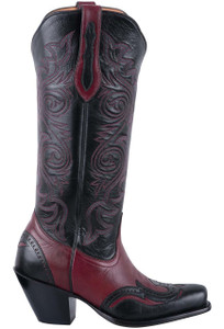 Tony Lama Signature Series Women's Merlot Midnight Cowgirl Boots - Side