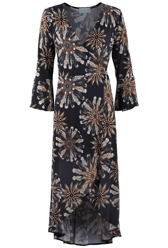 Veronica M Feather Wrap Dress