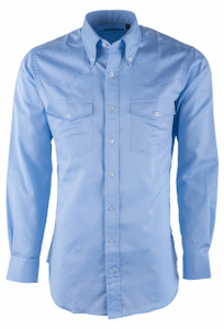 Pinto Ranch YY Collection Blue Pique Micro Check Shirt  - Front