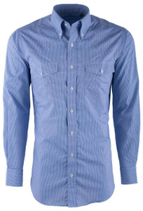 Pinto Ranch YY Collection Periwinkle Mini Graph Check Shirt  - Front