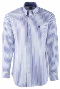 Cinch Purple Pinstripe Shirt - Front