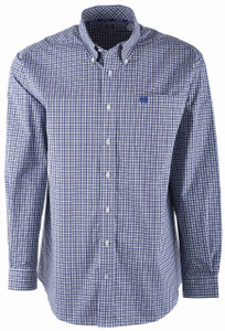 Cinch Purple and Gray Mini Check Shirt - Front