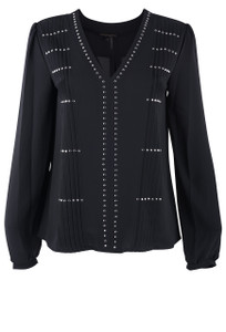 Alberto Makali Blousson With Silver Studs Top - Front