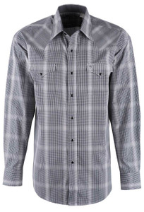 Stetson Black Birch Check Shirt - Front