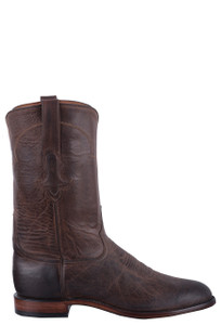 Tony Lama Signature Series Men's Dark Chocolate Mad Dog Roper Boots - Side
