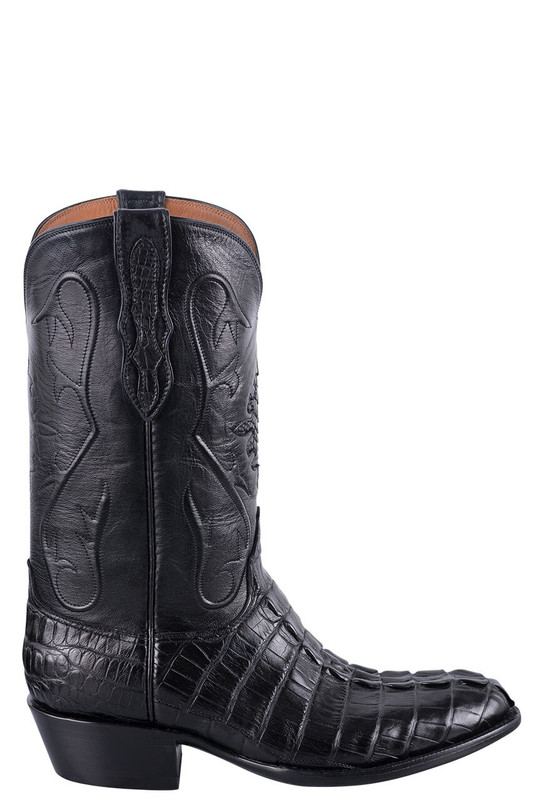 Black Jack Exclusive Black Hornback Alligator Tail Boots