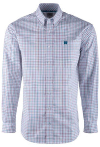 Cinch Rhubarb Celestial Check Shirt - Front
