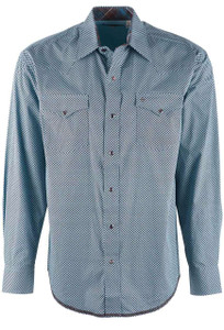 Stetson Brown Linked Circles Snap Shirt - Front