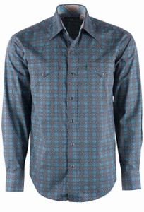Stetson Brown Hornet Medallion Snap Shirt - Front