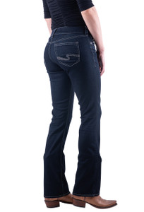 Silver Jeans Co. Suki Slim Boot Cut Dark Rinse Wash Jeans - Hero