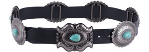 Lucky and Blessed Women's Turquoise Teardrop Concho Belt