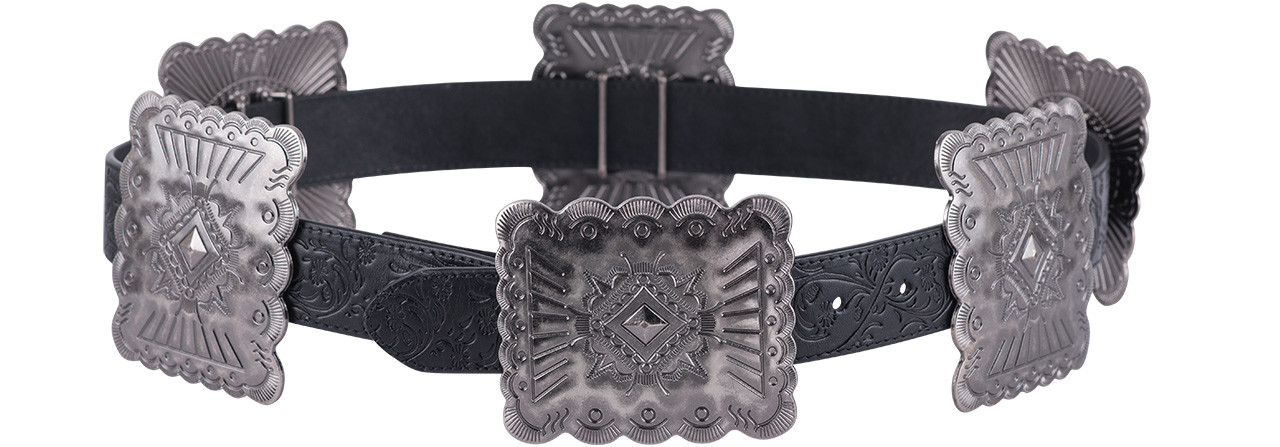 Lucky And Blessed Womens Large Concho Belt