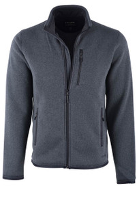 Filson Ridgeway Charcoal Heather Fleece Jacket  - Front
