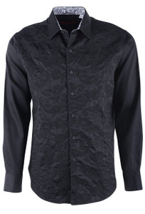 Robert Graham Henderson Black Sport Shirt - Front