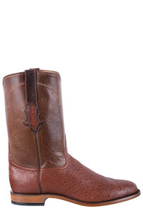 Tony Lama Signature Series Men's Classic Brandy Smooth Ostrich Roper Boots