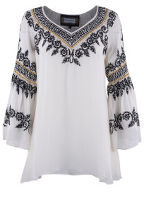 Vintage Collection Megan Chiffon Top  - Front