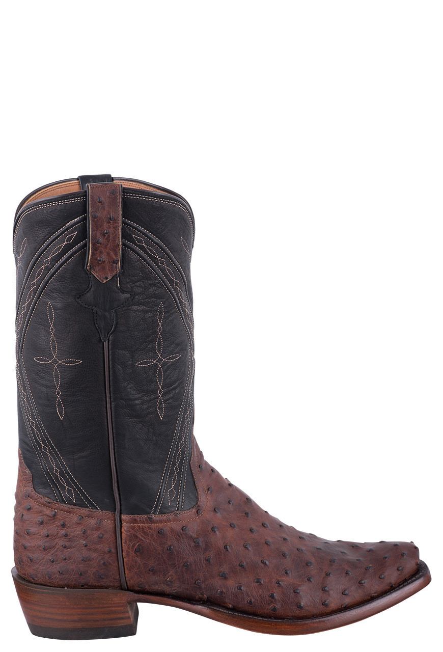 bb7d0e1f9cb Rios of Mercedes Sienna Lux & Fandango Black Full Quill Ostrich Cowboy  Boots for Men