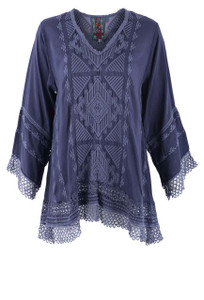 Johnny Was Renee Lace Blouse - Front