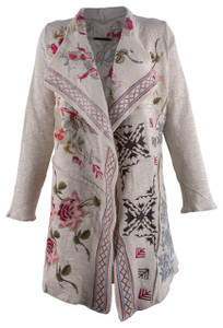 Paparazzi by Biz English Rose Embroidered Jacket - Front