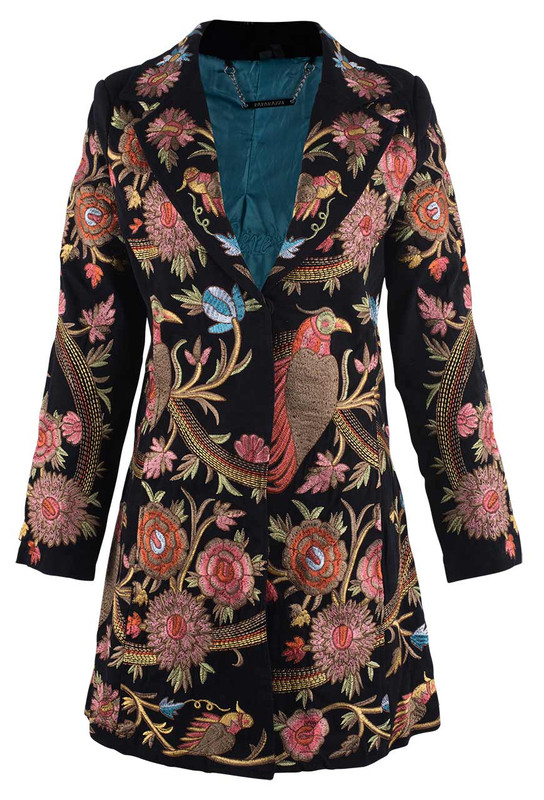 Paparazzi by Biz Birds of Paradise Embroidered Jacket - Front