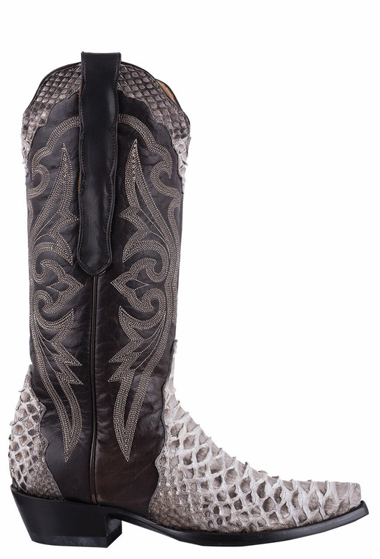 Old Gringo Women's Triad Atlas II Natural Python Boots - Side