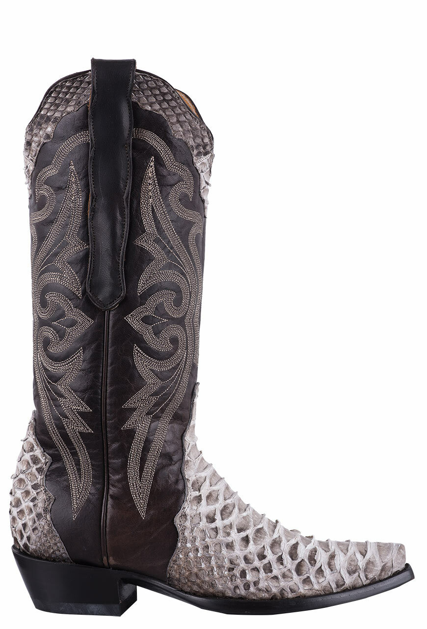 OLD GRINGO WOMEN'S TRIAD ATLAS II NATURAL PYTHON BOOTS