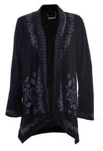 Paparazzi by Biz Tuscan Tonal Embroidered Cardigan - Front