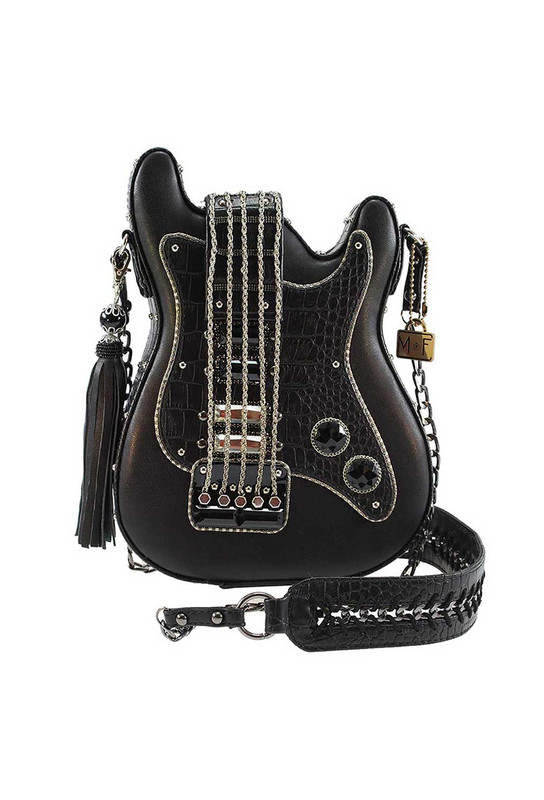 Mary Frances Turn It Up Guitar Crossbody Purse
