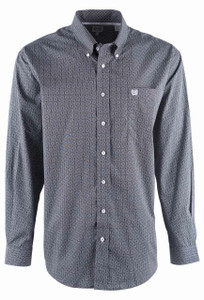 Cinch Stone Black Circle Print Shirt - Front