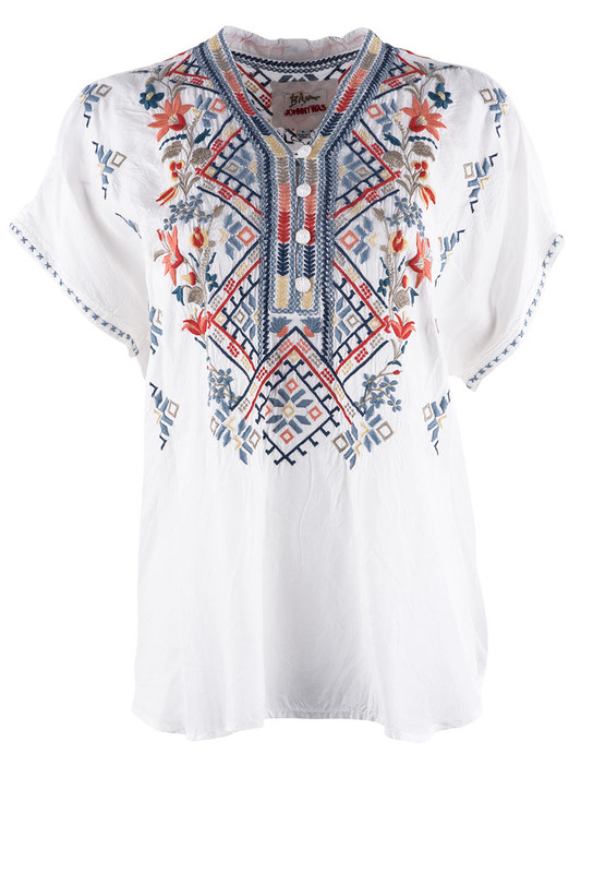 Johnny Was Matson Cupra Blouse  - Front