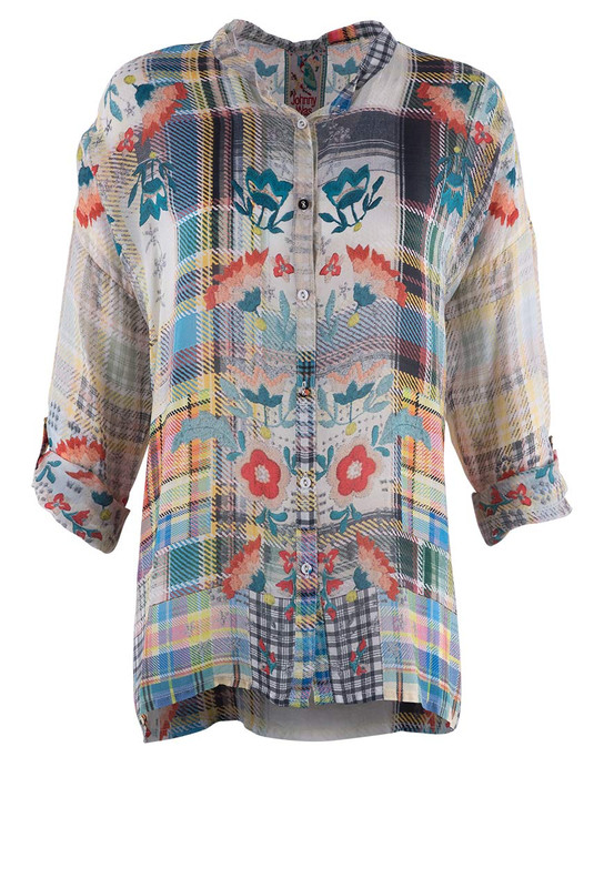 Johnny Was Patch Blouse - Front