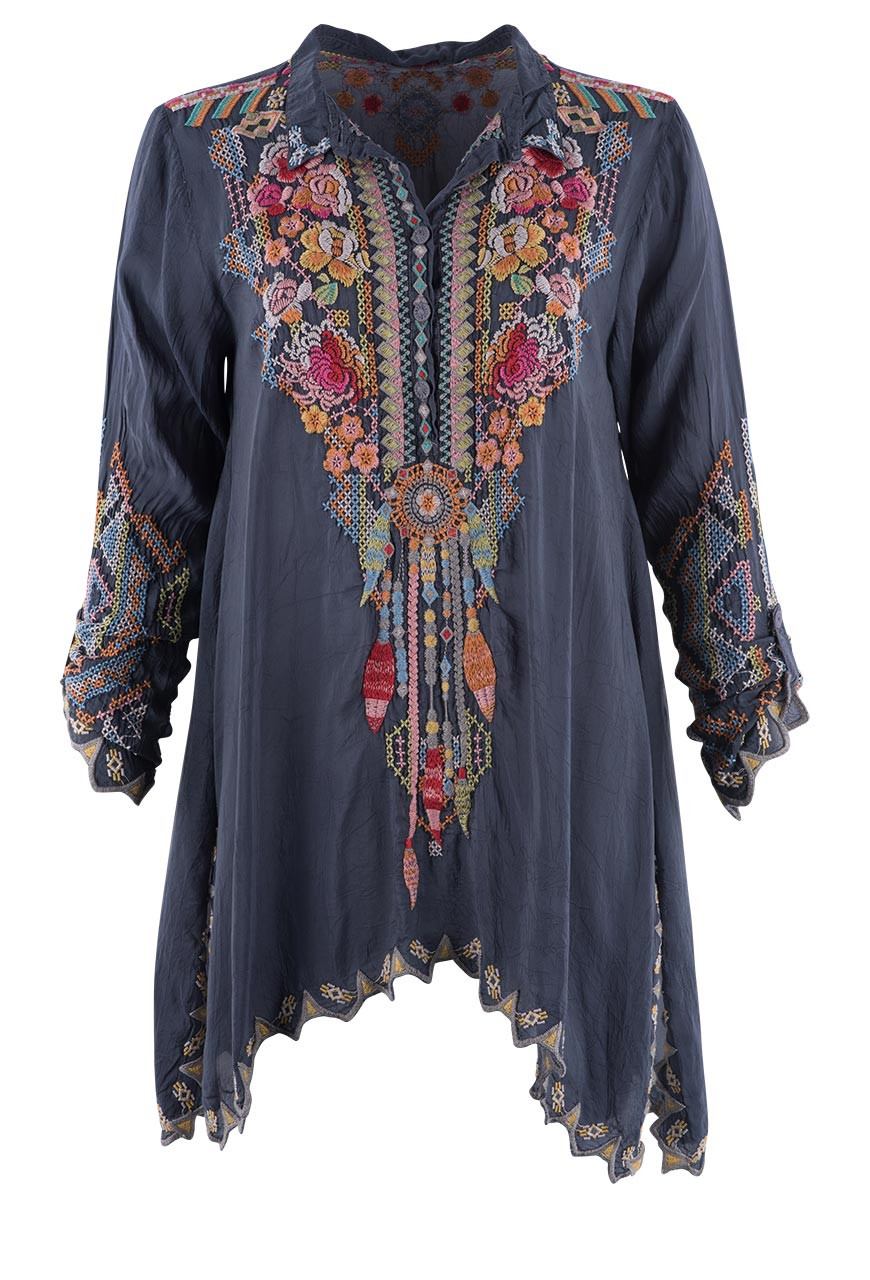 Embroidered Tunic Top | Purchase a Johnny Was White ...
