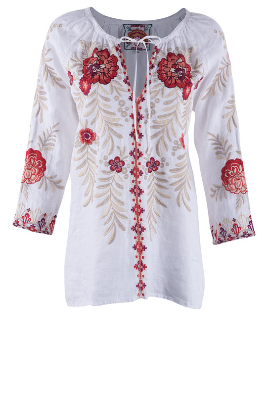 Johnny Was Maya Peasant Blouse - Front