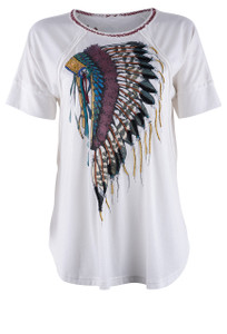 Double D Ranch Warriors Headdress Tee - Front