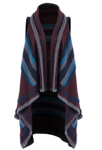 Ryan Michael Women's Reversible Native Shawl - Front