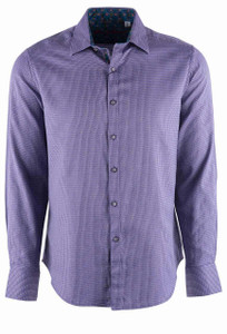 Robert Graham Garvey Purple Sport Shirt  - Front