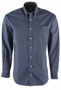 Cinch Navy Linked Circle Print Shirt  - Front