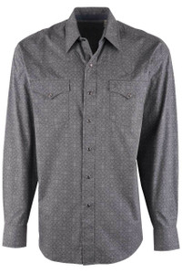 Stetson Gray Vintage Filigree Snap Shirt - Front