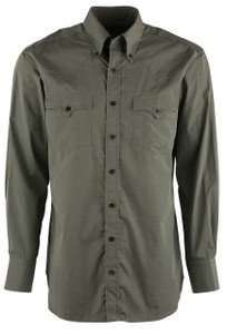 Lyle Lovett Green End on End Poplin Shirt - Front