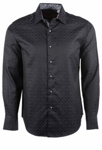 Robert Graham Diamante Black Sport Shirt - Front