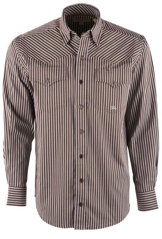 Miller Ranch Chocolate Brown Double Stripe Shirt - Front