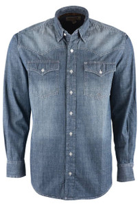 Miller Ranch Indigo Chambray Button Down Shirt - Front